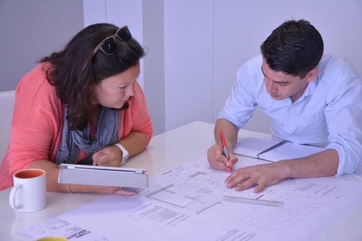 Katie and James at the CDMS offices