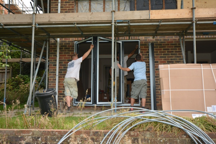 20140918 Master door frames going in
